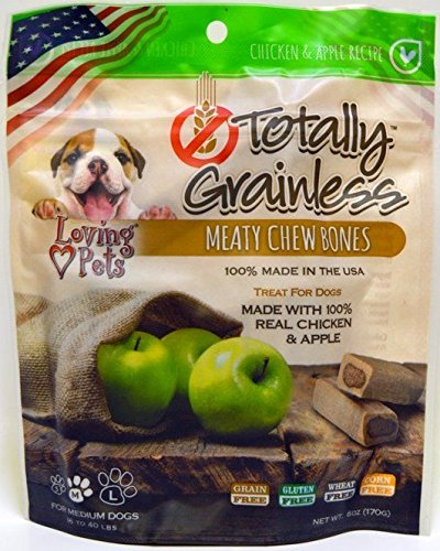 Loving Pets Totally Grainless Chicken and Apple Recipe Meaty Chew (Loving Pets Apple)