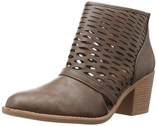 Qupid Women's Tobin-53 Ankle Bootie Taupe zYOzGg