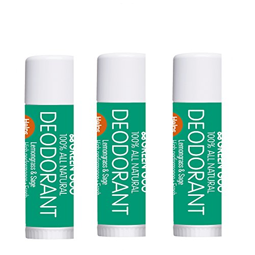 (Green Goo Deodorant - Travel Stick - Lemongrass and Sage, 0.3 Pound (Pack of 3))