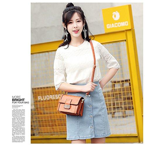Yoome Women Crossbody Bags Vintage Handbags Rivet Purse Mini Shoulder Bag for Girls Small Pouch Bag Beige 33oXjhAEl