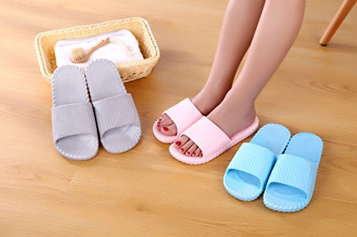 Slippers Shower Unisex House Toe Slide Resistance Shoes Open Sandals Shoes Lightweight Red Slip Youxuan 45Uwq11