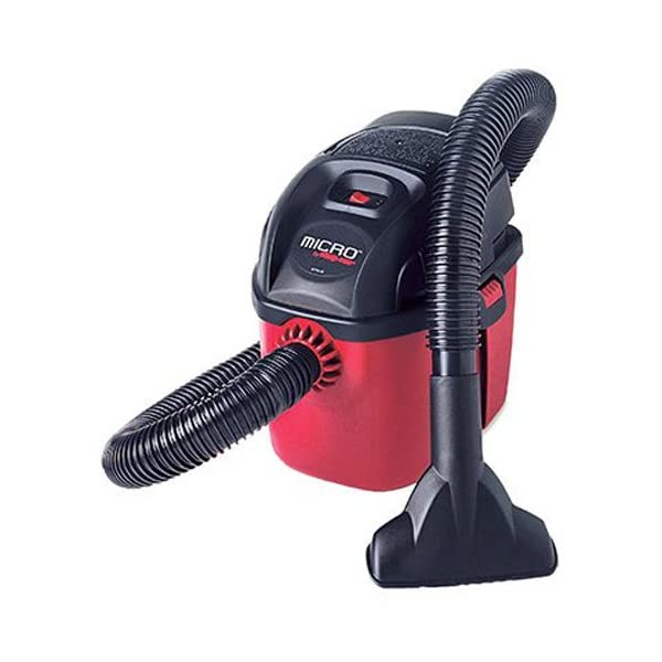 Shop Vac 2021000 Micro Wet/Dry Vac Portable Compact Micro Vacuum With Collapsible Handle, Wall Bracket & Multifunction Accessories, Uses Type A Filter Bag & Type MM Foam Sleeve