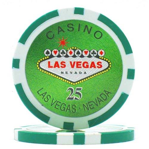 Trademark Poker Clay Laser Las Vegas 100 Poker Chips (25-Piece), ()
