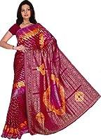 Bollywood Sari Kleid Multicolor Rot Gelb CA121