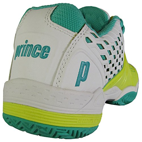 Scarpe Da Tennis Principe Donna Guerriero Cc Argilla Bianca / Limone / Verde Acqua