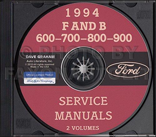 1994 Ford Big Truck CD Repair Shop Manual F600 F700 F800 FT900 B600 B700