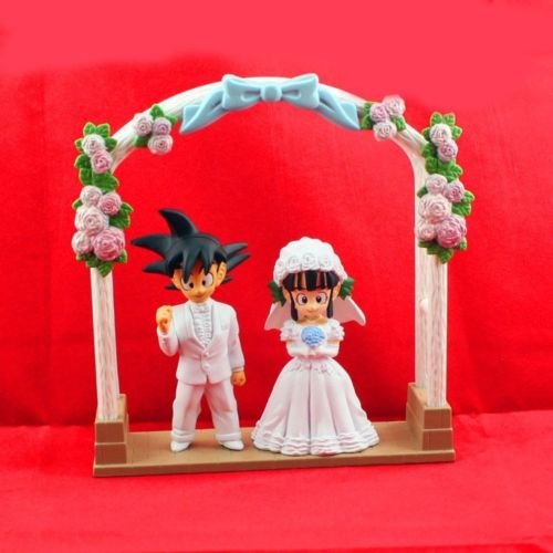 DBZ Dragon Ball Z Son Goku Gokou & ChiChi Wedding Cake Topper Figure Toys Gift