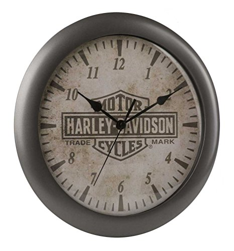 Harley-Davidson Core Trademark Bar & Shield Logo Clock,, used for sale  Delivered anywhere in USA