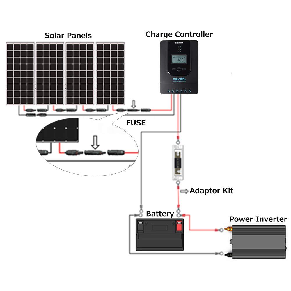 Female M//F Connecteur pour PV Panneau solaire Cable Accessoires W//fusible 15A protecteur du panneau soalire et du r/égulateur de charge RENOGY 15Amp 1000VDC fusible connecteur MC4 male