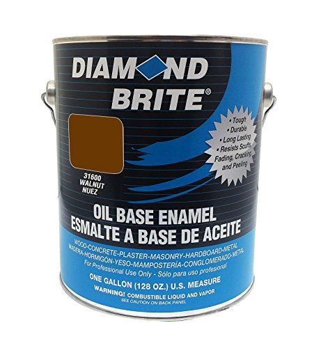 Diamond Brite Paint 31600 1-Gallon Oil Base All Purpose Enamel Paint   Walnut