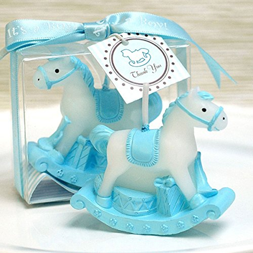 Cartoon Romantic Fantasy Carriage Charming Gifts Party Candles Smokeless Candles Birthday Candles for Baby Shower and Wedding Favor Keepsake Favor (10, Blue) Baby Carriage Candle Favor