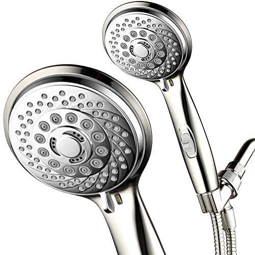 - HotelSpa 7-Setting Ultra-Luxury Handheld Shower-Head with Patented On/Off Pause Switch (Brushed Nickel/Chrome)