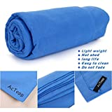 AcTopp Sports and Travel Towel - Super Absorbent Microfiber Fast Drying ...