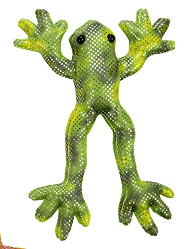 Shimmering Green and Yellow Bean Bag Rainforest Frog - By Ganz