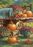 Toland Home Garden Farm Pumpkin 12.5 x 18 Inch Decorative Rustic Fall Autumn Harvest Flower Garden Flag