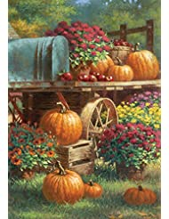Toland - Farm Pumpkin - Decorative Harvest Fall Autumn Flower...