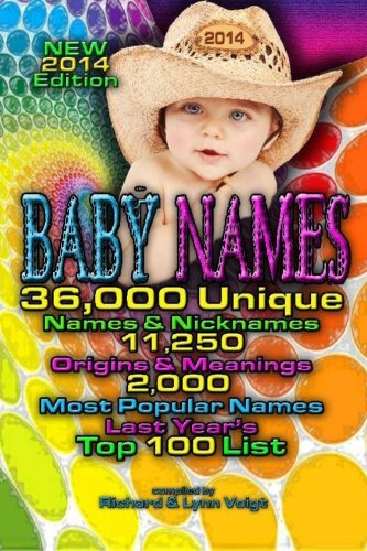 Download Baby Names - 2014 Edition: 36,000 Baby Names & Nicknames, 11,250 Name Origins & Meanings, 2,000 Most Popular Names & Last Year's Top 100 Baby Names ebook