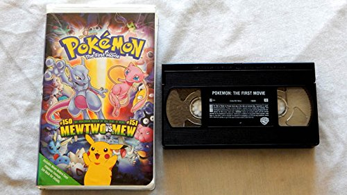 Pokemon The First Movie - VHS Tape Edition - Warner Brothers 1998 - A USED Play-Screened VHS Edition Graded 9.6 BY THE SELLER - Photo - Pokemon Gaming