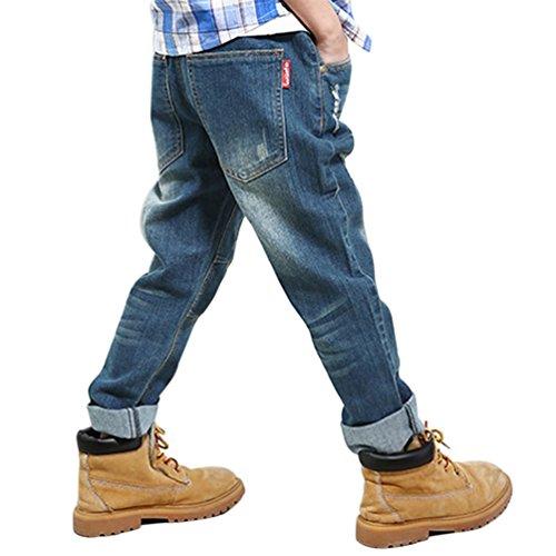YoungSoul Vaqueros para niños cintura elastica denim pantalon jeans slim  fit 11-12años Etiqueta 160  Amazon.es  Ropa y accesorios 410c0d9d2dc