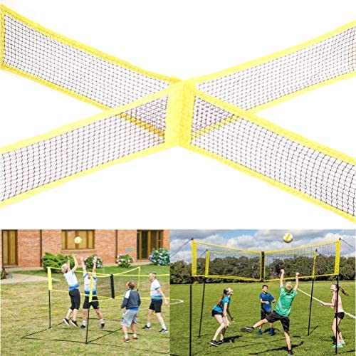 Sports & Outdoors Moggem Volleyball Net Set,4 Square Portable ...