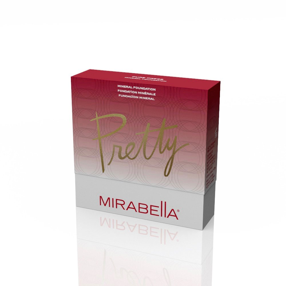 Mirabella Pure Press Mineral Powder Medium Coverage Foundation - III, 8g/0.28oz by Mirabella