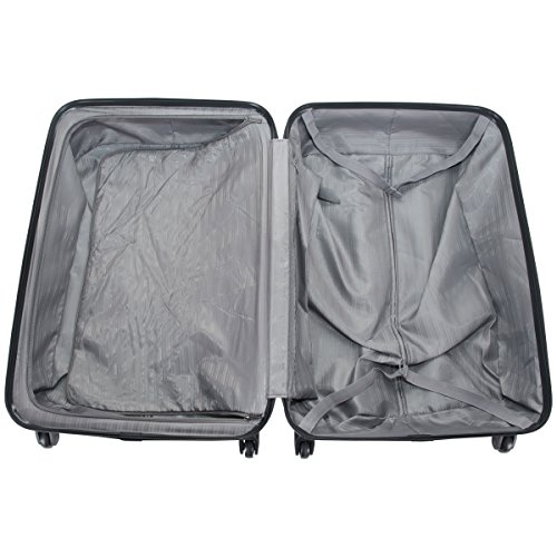 """Kenneth Cole Reaction Out Of Bounds 4-Wheel Hardside 3-Piece Luggage Set: 20"""" Carry-on, 24"""", 28"""", Charcoal"""