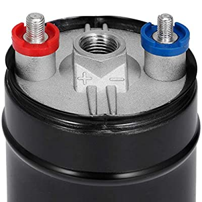 Happybuy 380LPH External Inline Fuel Pump 0580254044 10AN Inlet 8AN Outlet Replace: Automotive