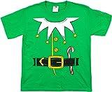 Santas Elf Costume | Jumbo Print Novelty Christmas Holiday Humor Youth T-shirt