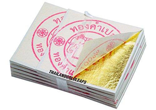 40 x 40 MM 24K x100 Edible Gold Leaf Sheets 100% Pure Cak...