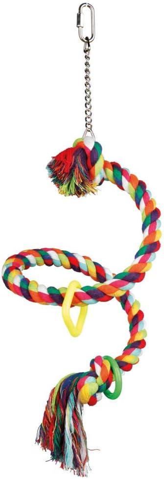 TRIXIE Percha Cuerda Multicolor espiral, 50 cm, Pájaros