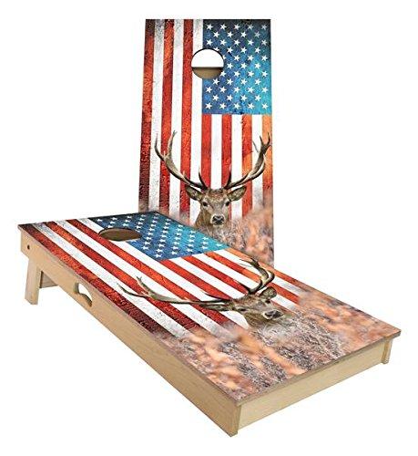 Slick Woody's 4'x2' Regulation Size American Big Buck Cornhole Boards Set by Slick Woody's Cornhole Co.