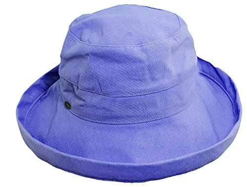 Kinder Caps Girl's Cotton Big Brim Petite Hat,Blue,One Size - Cotton Petite Hat