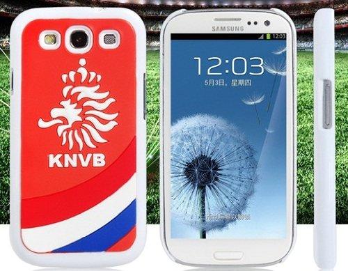 Mundo Copa Holanda Fútbol Equipo Bandera Impresión Silicona Y Plástico Funda Protectora Para Samsung Galaxy S3 I9300
