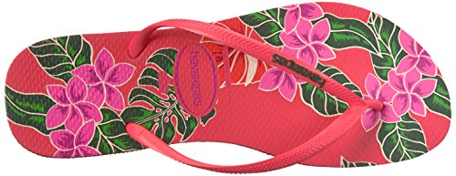 Pictures of Havaianas Women's Slim Floral Sandal Coral 9 M US 2