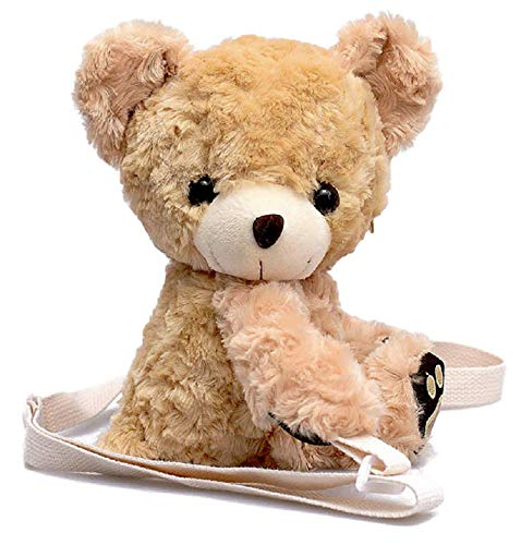 Hugging Bears - GK-O Kawaii Kid Girl's Cute Soft Mini Bear Plush Hugging Doll Toy Shoulder Bag