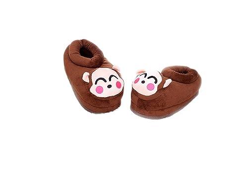 Zapatos de Animales de Dibujos Animados Inicio Zapatos cálidos Zapatillas de casa de Felpa Suave Neutra