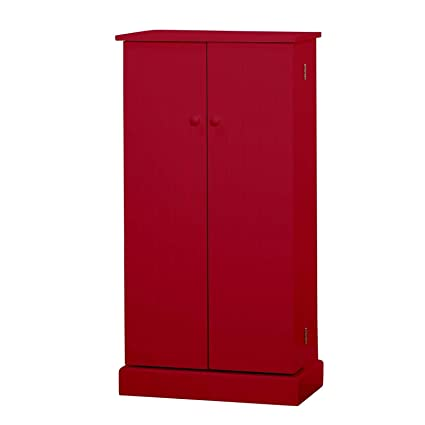 Amazon Com Moon Daughter Red Wooden Kitchen Pantry Cabinet Storage