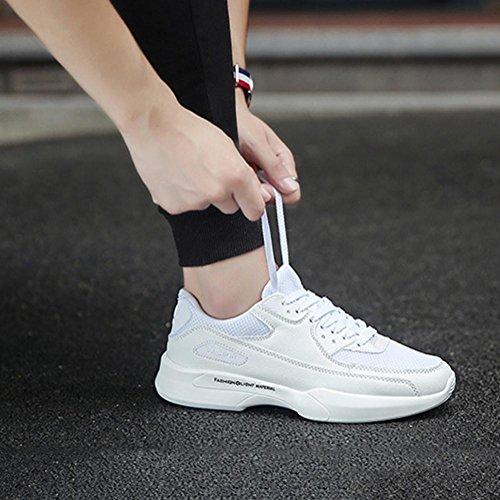 Scarpe da uomo scarpe da uomo scarpe da ginnastica scarpe da sci respirabile antiscivolo Scarpe casuali scarpe da uomo , Bianca , 42