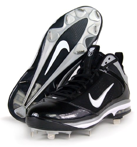 Nike Air Max Diamond Elite Mtl Metall Menns Baseball Cleats Svart / Hvit