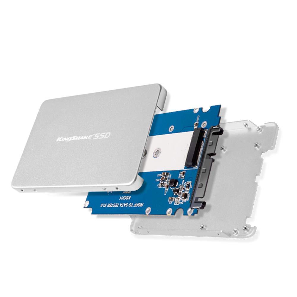 KINGSHARE mSATA SSD to 2.5-Inch SATA III Aluminum Enclosure Adapter Converter Black