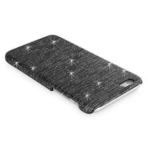 BoxWave Étui iPhone 6cas numérique Glitz Apple iPhone 6Coque–Coque fine avec un motif à paillettes–Apple iPhone 6et coques (Noir)
