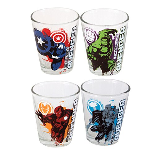 Avengers Four Pack Shot Glass Set