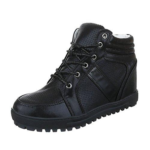 Ital-Design - Zapatillas de Material Sintético para mujer negro