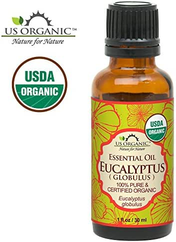US Organic 100% Pure Eucalyptus Essential Oil (Globulus) - USDA Certified Organic, Steam Distilled - W/Euro droppers (More Size Variations Available) (30 ml / 1 fl oz)