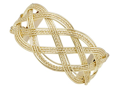 Alilang Gold Greek Goddess Textured Woven Braid Arm Band Wrist Cuff Costume Adjustable Bracelet -