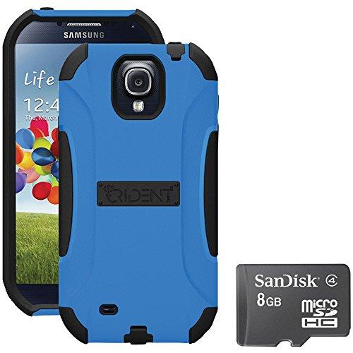 Kit:s4 Aegis Cs Bl, Trident S4 Aegis Case Blue With Sandisk Micro...