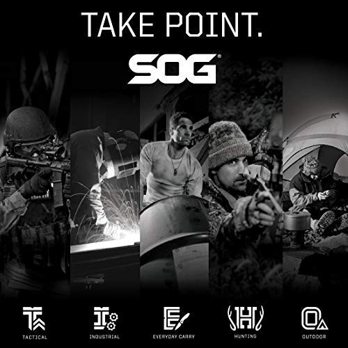 SOG Tactical Tomahawks  - Throwing Hatchet, Throwing Tomahawk, Survival Tactical Axe with Sheath and Emergency Breaching Tool with Spike (F01TN-CP)