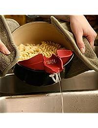 Win 1 Piece Silicone multifunction Funnel strainer Pot Pan bowl baking wash rice Colander kitchen Accessories gadgets... online