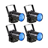 TSSS XL100-L-X4 3W Blue LED Spotlight Party Stage Light with Stand for Disco Pub Light, 4 Pack