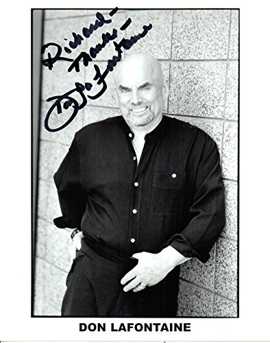 Don LaFontaine (d. 2008) Signed Autographed 'To Richard' Glistening 8x10 Photo - COA Matching Holograms